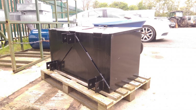 Front mounted toolbox